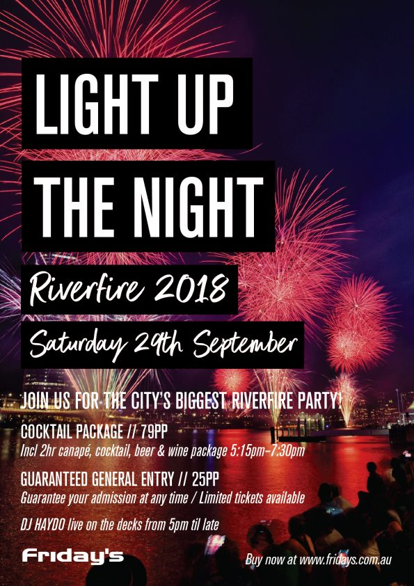 Fridays Riverfire Party - Fridays Brisbane