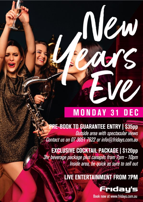 New Years Eve at Fridays Riverside